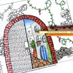 Arched City Coloring page for adults