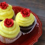 Beauty & the Beast Belle Cupcakes