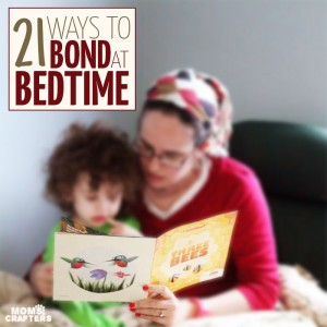Do you read aloud to your child at bedtime? You should! Here are 21 ways to bond at bedtime with your toddler or young child   Parenting tips