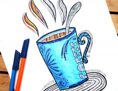 Adult Coloring Pages for Coffee Lovers
