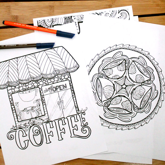 coffee adult coloring pages s