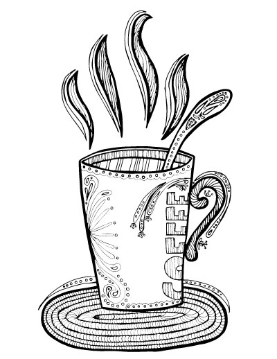 Adult Coloring Pages For Coffee Lovers Moms And Crafters