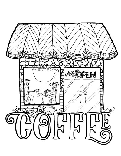 If You Love Coffee And Adult Colouring Youll Want To Grab