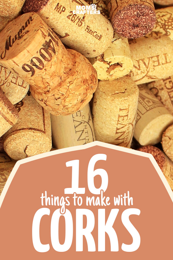 A list of the best DIY wine cork crafts I've seen to upcycle and repurpose all of those corks I have lying around! Great craft ideas - I need to get to recycling my corks more.