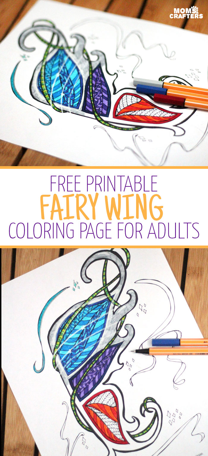 graphic relating to Free Printable Fairy Wings identify Fairy Wings n Factors Coloring Web pages for Older people