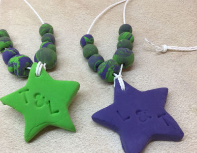 Friendship Necklaces from clay