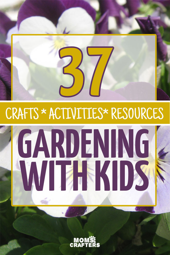 Gardening with kids can be fun... and challenging. This amazing resource includes crafts, activities, printables, and more for gardening with kids - a fun spring and summer activity for toddlers, preschoolers, and older.