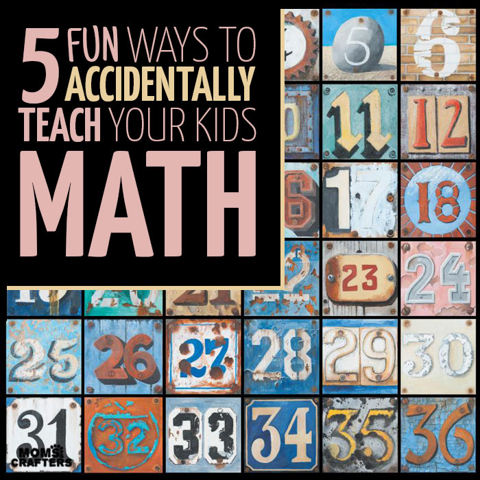 Teach kids math through your every day activities with these 5 simple tricks to try!