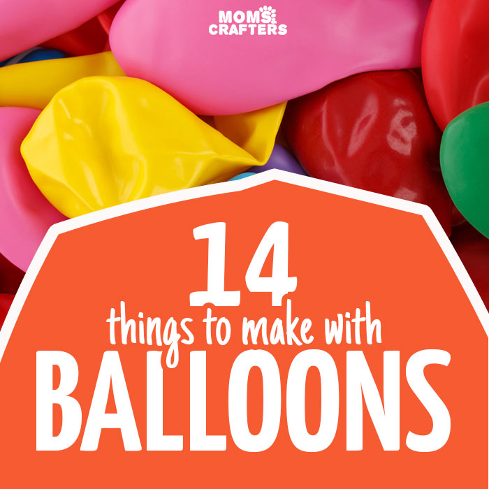 14 awesome things to make with balloons - you'll love these easy balloon crafts are for all skill and age levels! You'll find crafts for kids, teens, and adults with easy ideas to repurpose balloons you have left over from a birthday party.