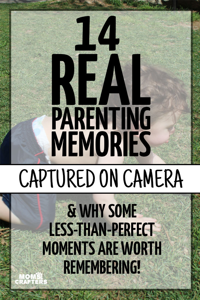 "Do you record ""mishap"" moments and memories as well? Here is an adorable scrapbooking and baby photography idea: take photos of those less-than-perfect moments and see how they make you laugh later on. 