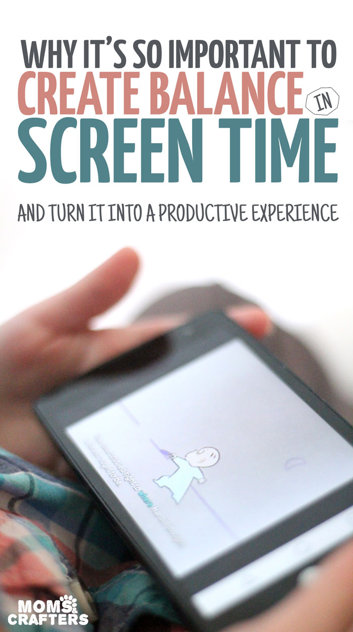 """Do you allow your child to have screen time? Here are some parenting tips on why it's important to find balance in this area - and not go """"all the way"""" in either direction."""