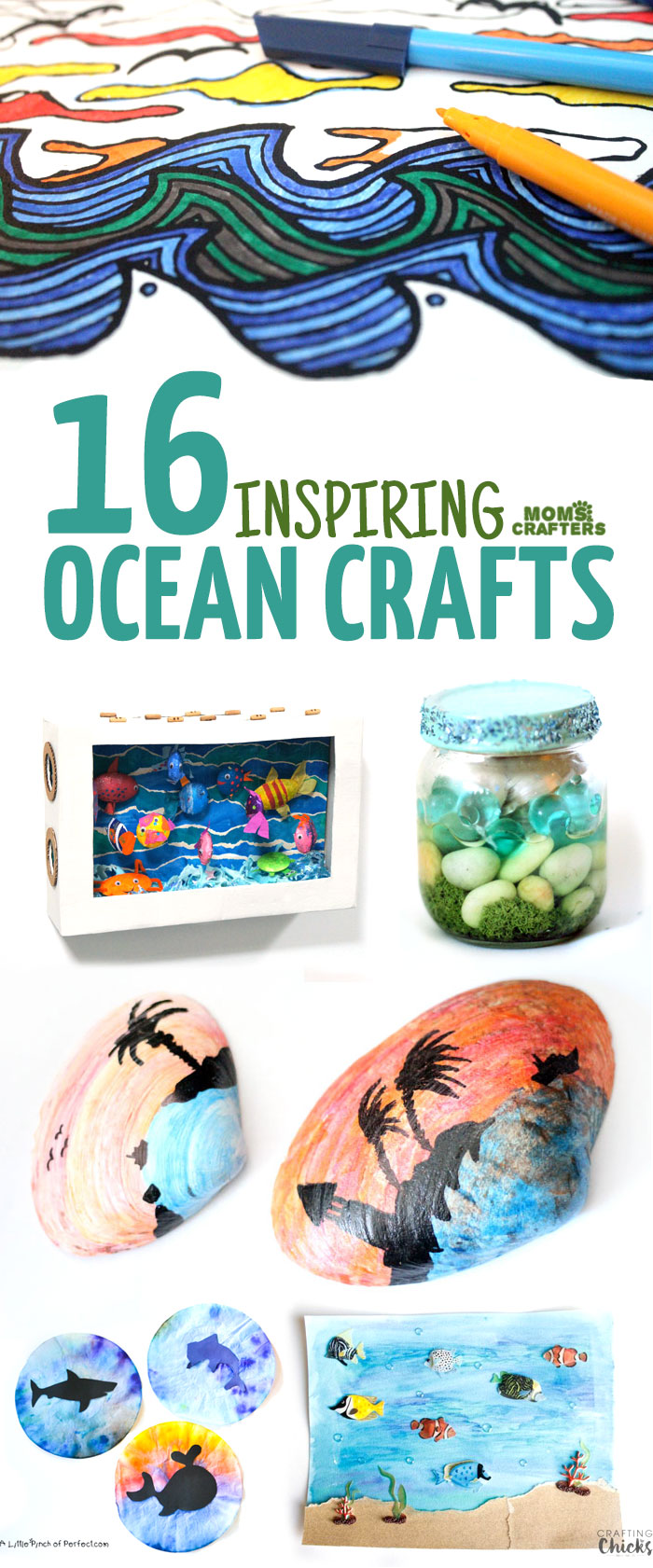 16 ocean crafts for kids and adults Summer craft ideas for adults
