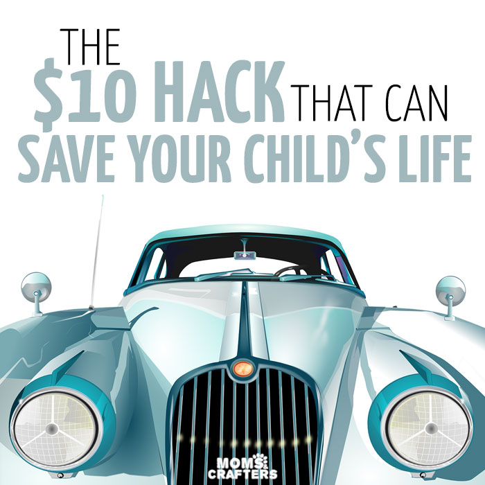 This super easy mom hack is simply brilliant! It can save a life and is possibly one of the best parenting tips I've seen - especially in the summer!