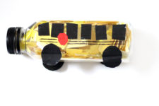 Practice scissor skills in this fun back to school craft to prepare for preschool or kindergarten! This DIY school bus discovery bottle is a cool DIY toy that also doubles as an educational activity for toddlers and preschoolers.