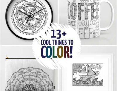 13+ Cool things to color – that aren't coloring pages!