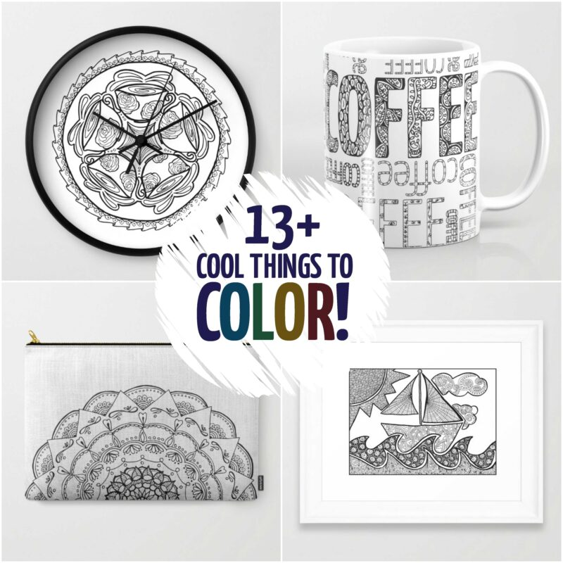 13+ Cool things to color - that aren\'t coloring pages! - Moms and ...