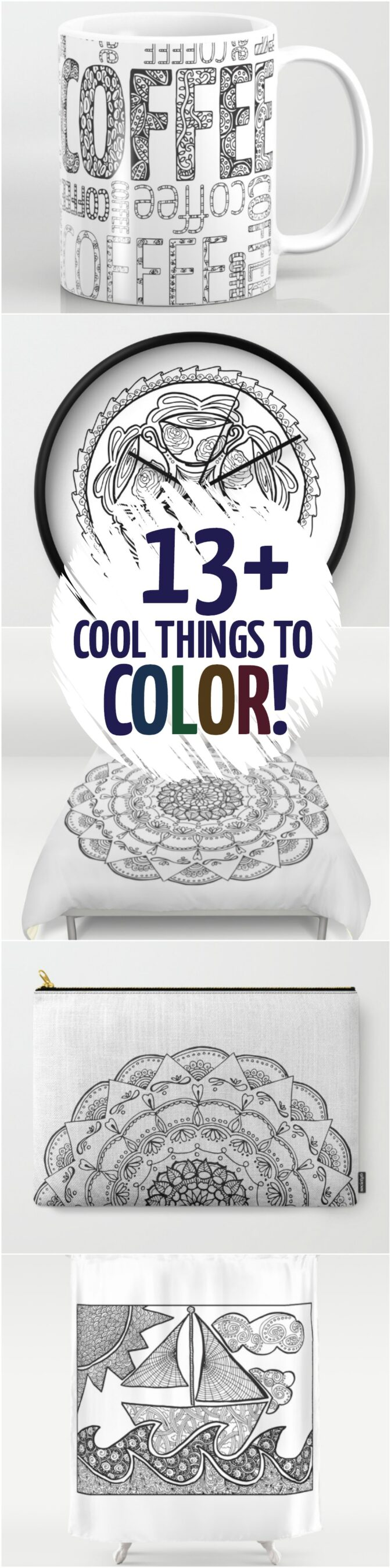 13 Cool things to color that arent coloring pages Moms and