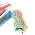 I love this cool DIY knit pencil case - aren't those buttons fab? It's perfect for back to school for kids and teens, for storing adult coloring supplies, and is quite a unique DIY school supply