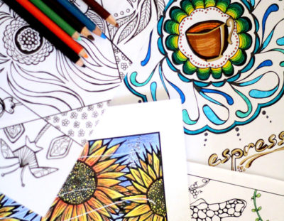 21 Things to make with adult coloring pages