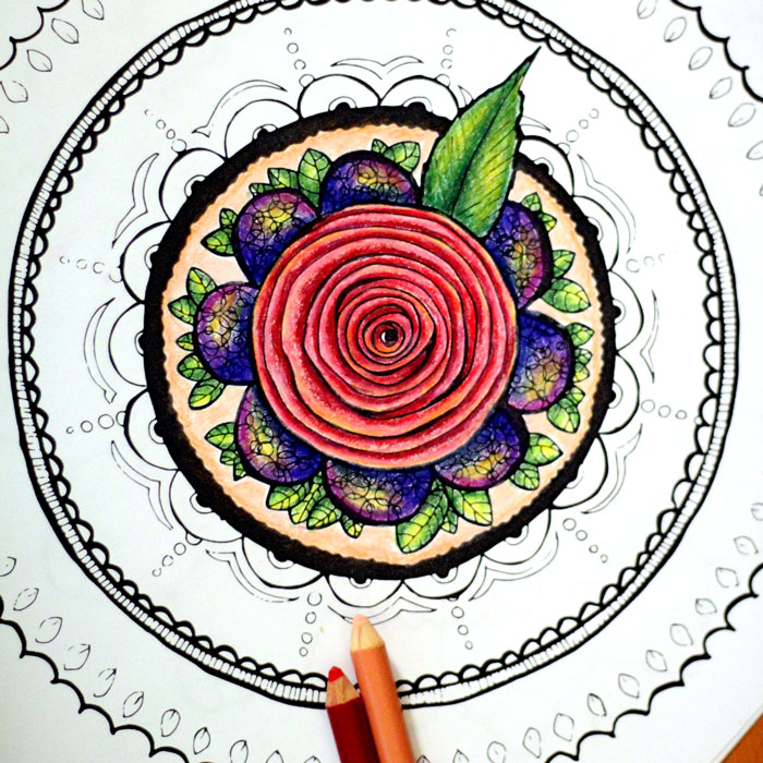 Grab these 5 cool printable mandala coloring pages for adults floral petals rosette