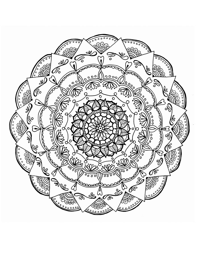 Cool Mandala Coloring Pages for Adults - Moms and Crafters