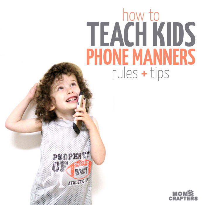 Some of the best parenting tips for teaching children phone etiquette - boyh rules for phone manners and tips for how to teach it! This is SO important when giving kids their first cellphones and the new school year is a great time to do this!