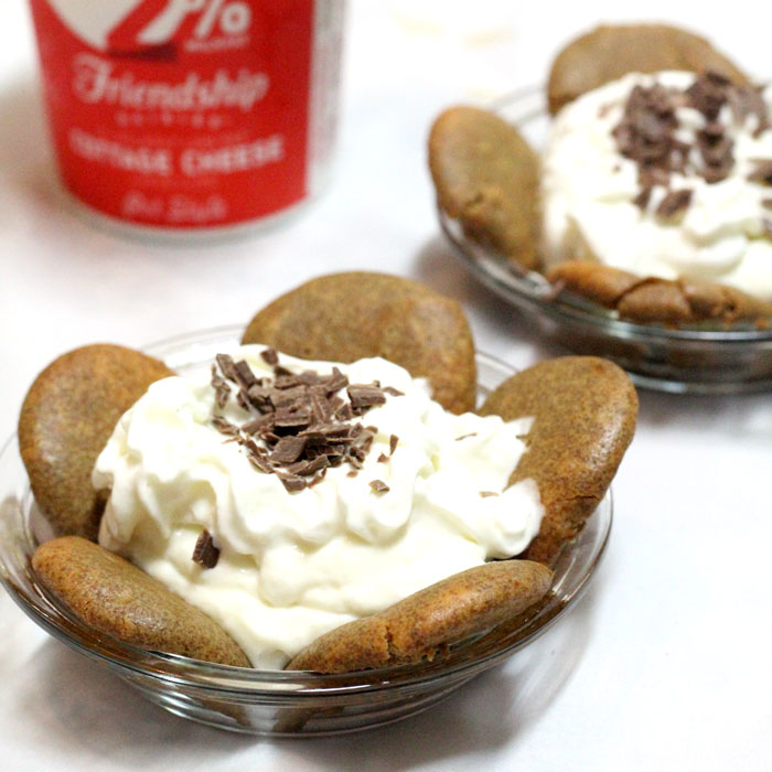 Supefood dessert? Yes, please! These tiramisu-inspired mini pies pack in some extra protein by using COTTAGE CHEESE! It's absolutely delicious and easy to make this dessert recipe because yes, this IS the shortcut version. So there you have it - an easy, fun coffee-flavored snack or dessert with extra protein, perfect for busy and breastfeeding moms.