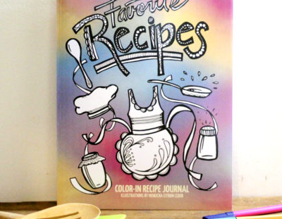 Preserve Your Favorite Recipes with the Color-in Recipe Journal