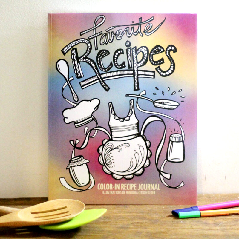 Printable Recipe Binder Pages Color-in recipe binder | Etsy