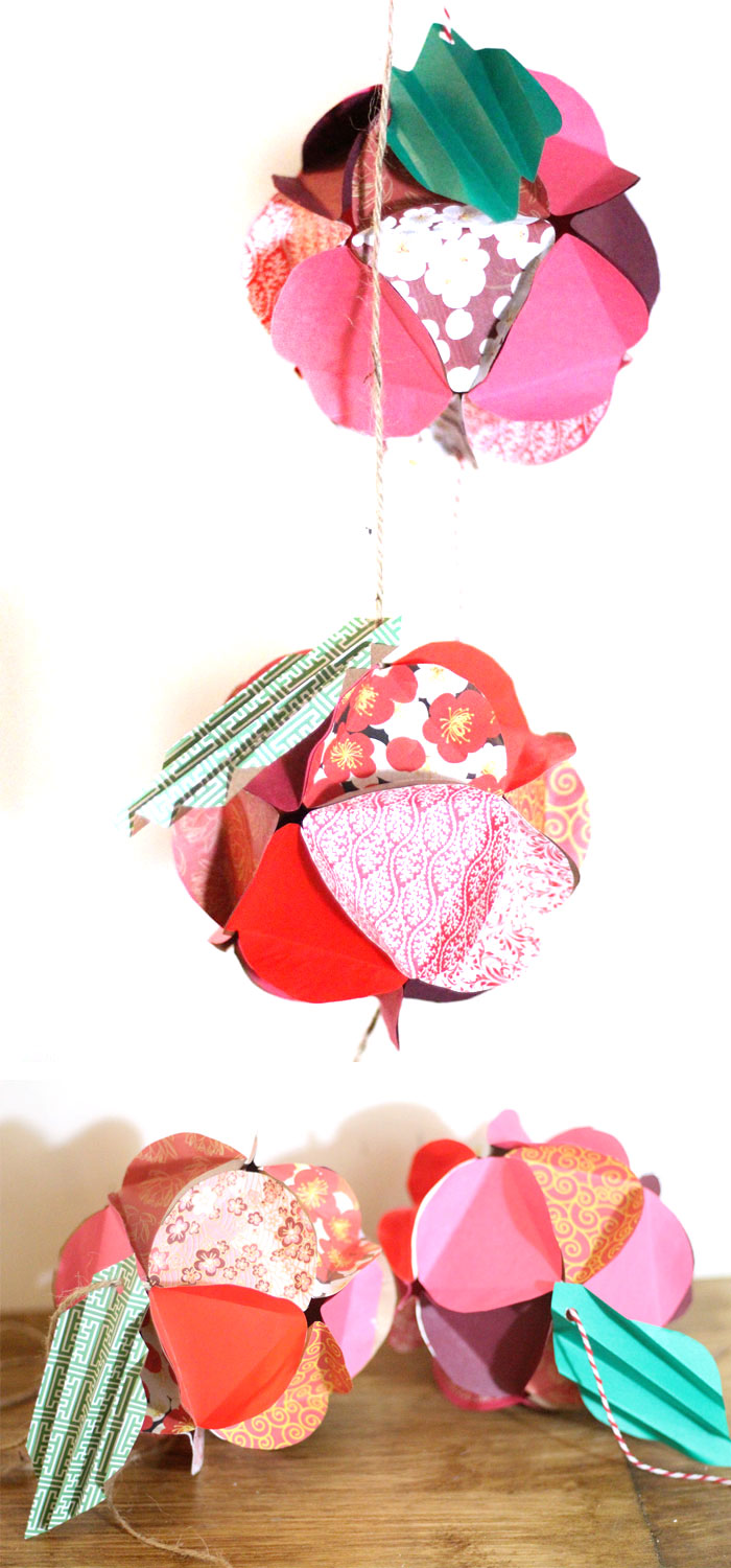 Make A Beautiful Apple Paper Globe To Decroate Your Party Or Home Its Also