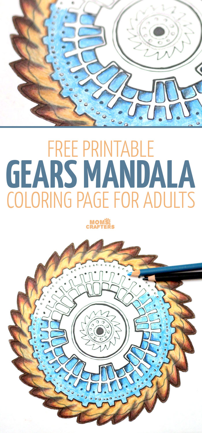gears mandala coloring page free printable moms and crafters