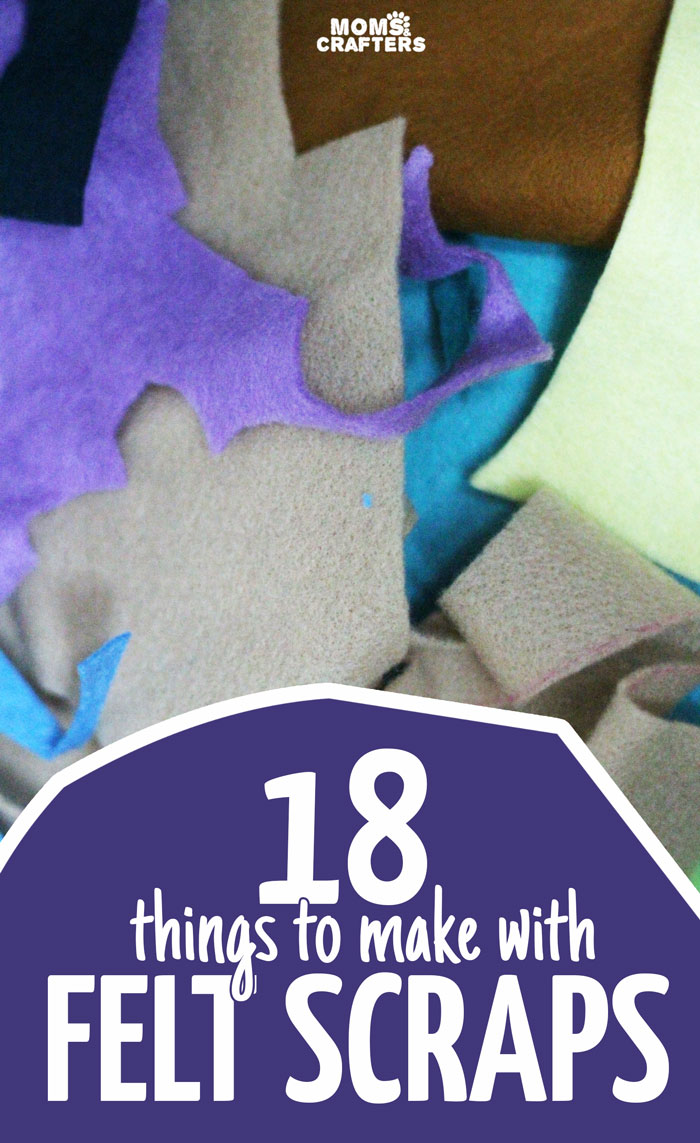Don't throw away your felt scraps! These 18 cool things to make with felt scraps include a variety of easy felt crafts that can also be made from sampler packs. Click to see eighteen cool crafts for kids, teens, and adults.