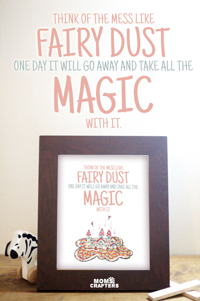 For when you're fed up with tripping over all those toys... You can get this cool quote as playroom wall art now. It's also great for your nursery decor and serves as a great parenting reminder and inspiration for just how lucky we are!