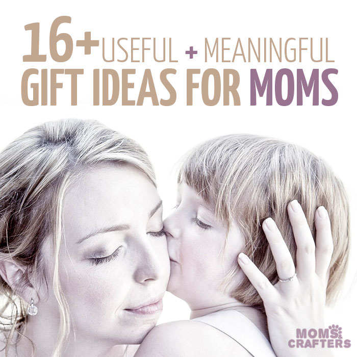 16+ cool and practical gifts for moms - these are great gift ideas, whether it's for your mom, someone else's mom - anyone who happens to be a mother would enjoy these meaningful gift ideas. You'll find great ideas for birthday gifts, holiday gifts, gifts for Christmas and Hanukkah...