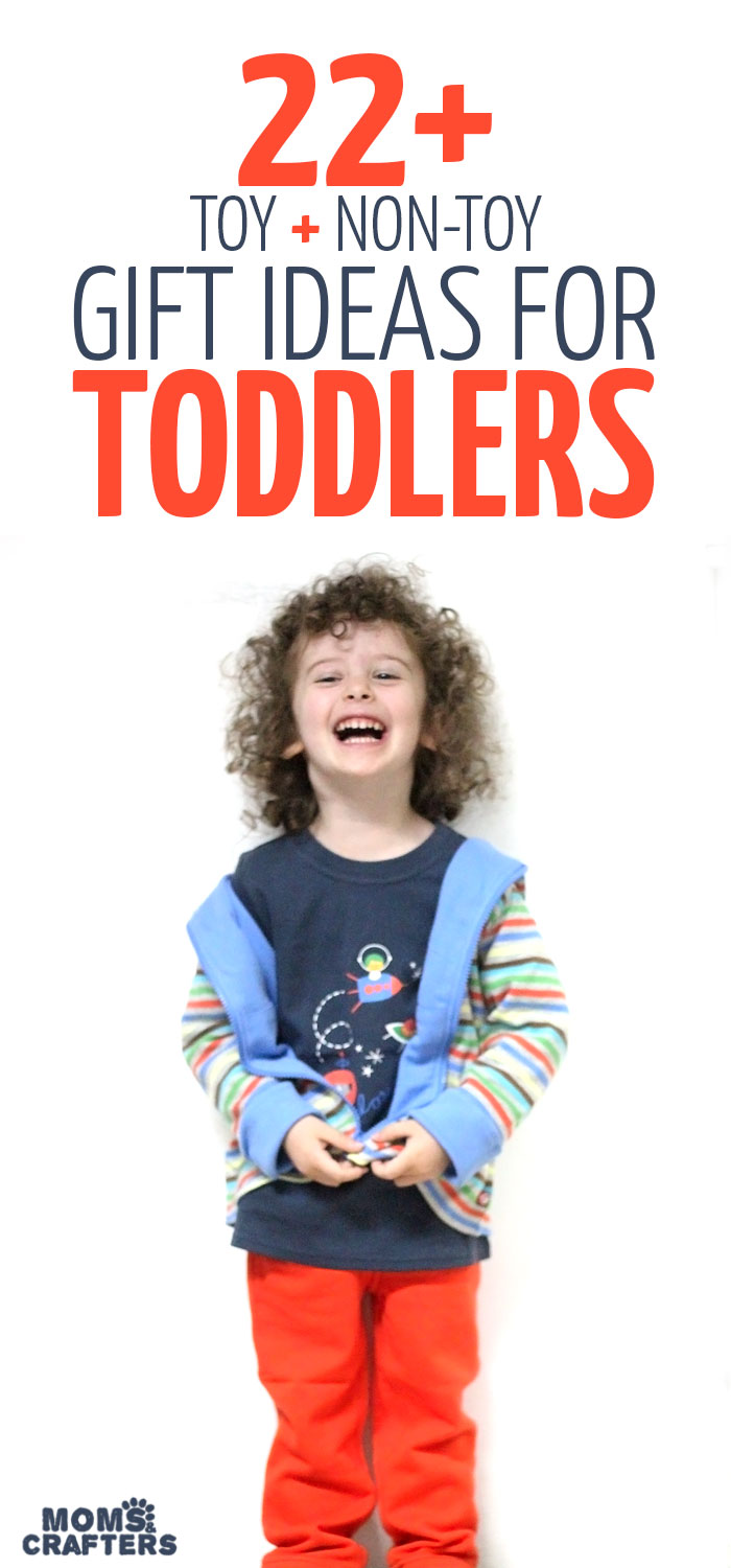 Check out this thorough list of amazing gifts for toddlers - from clothing to toys, and plenty of non-toy gift ideas as well! Perfect for help with your holiday or birthday shopping for Christmas or Hanukkah gifts.