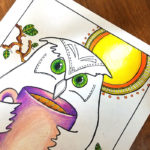 Free Printable Night Owl Coloring Page for Adults