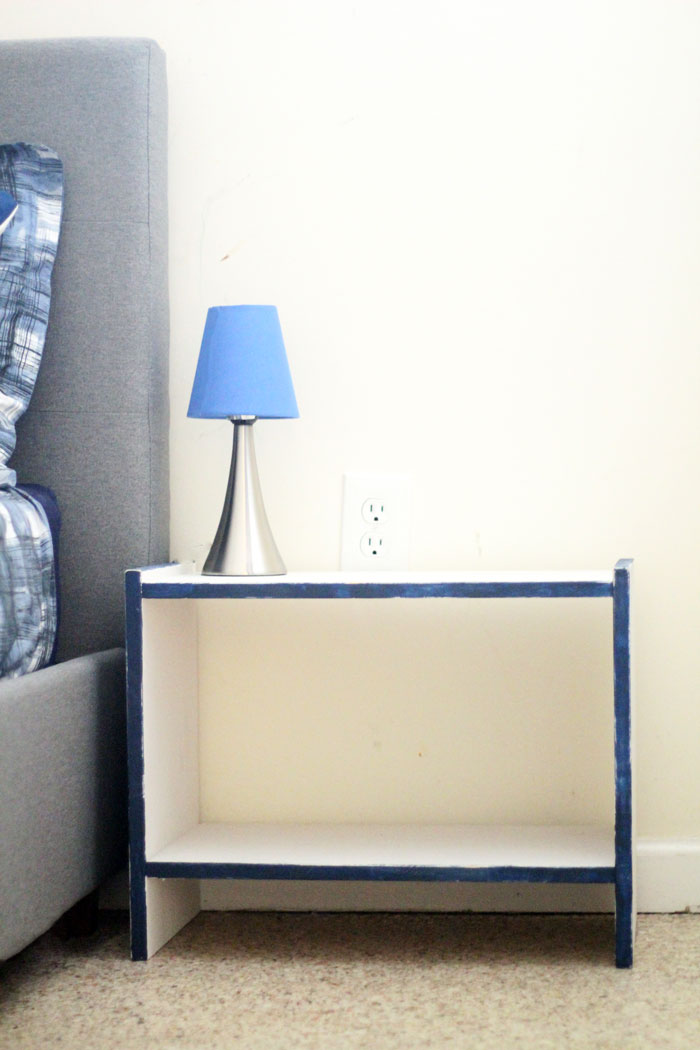 Color Accent Nightstand IKEA RAST Makeover Moms and Crafters