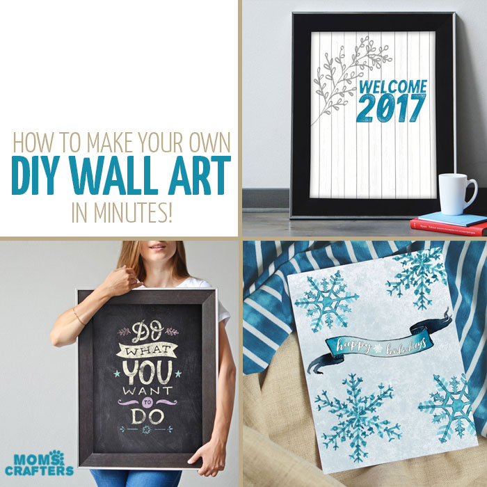 IF you were wondering how to make your own wall art, or thinking you don't have the time for it, check out this amazing tutorial on how to make your own DIY wall art and seasonal gallery walls in a few minutes. Plus, you can get these examples as a free printable.