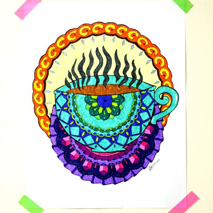 25 Coffee Coloring Pages for Adults