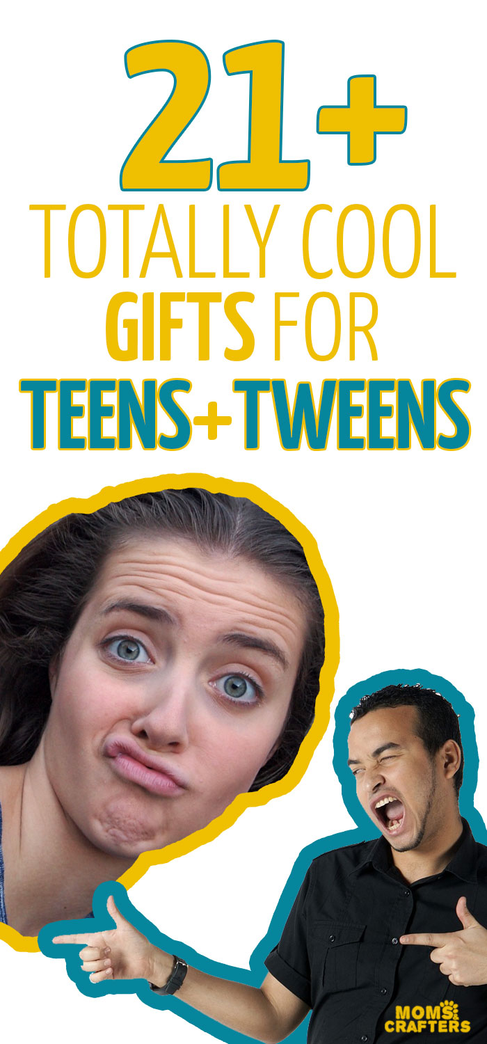 21+ gifts for teens and tweens that are totally cool! This includse fun techie gifts, cool wearables and fashion gifts for boys and girls, and just-for-fun quirky and cool gift ideas.