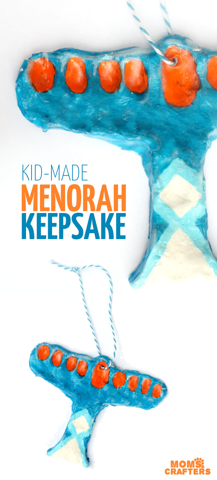 Make this fun Hanukkah craft for kids - a beautiful fingerprint menorah keepsake made using clay! This air dry clay craft for Chanukah is open-ended and perfect for toddlers, preschoolers, and kids. The final result can range from kid-made to professional looking!
