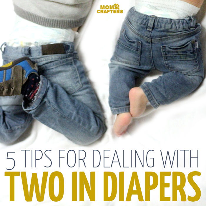 Having two in diapers can be a pain in the butt (pun intended) but it doesn't have to be! These simple mom to mom parenting tips and tricks will help make it a lot easier and more doable. So if your toddlers and babies are still in diapers, click to read these time-saving tricks.