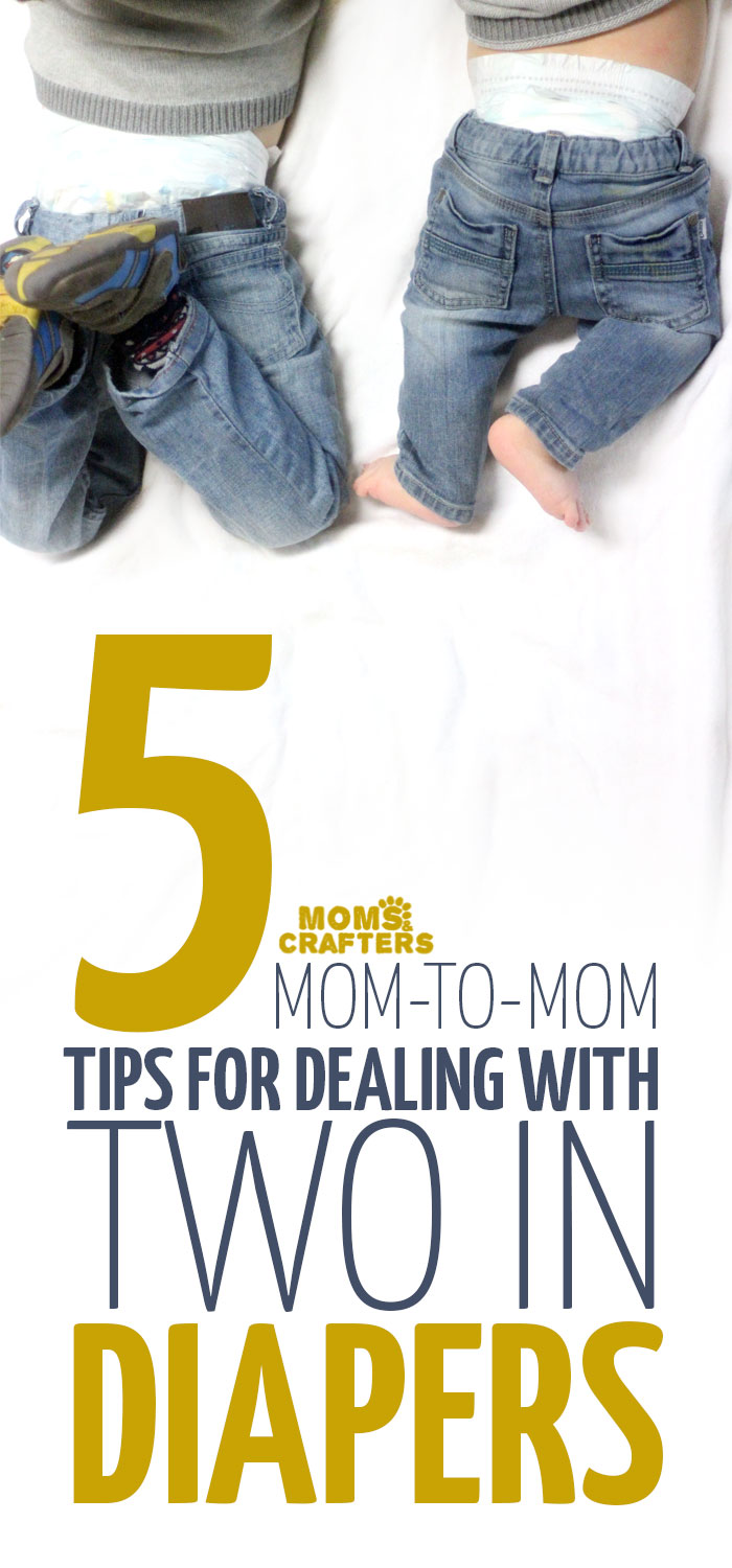 Having two in diapers can be a pain in the butt (pun intended) but it doesn't have to be! These simple mom to mom parenting tips and tricks will help make it a lot easier and more doable. So if your toddlers and babies are still in diapers, click to read these time-saving ideas
