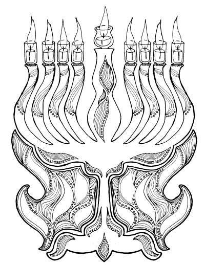 finally hanukkah coloring pages for adults i love these i think i