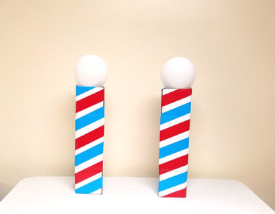 Barber Shop Party Decor – Make a Barber's Pole Centerpiece!