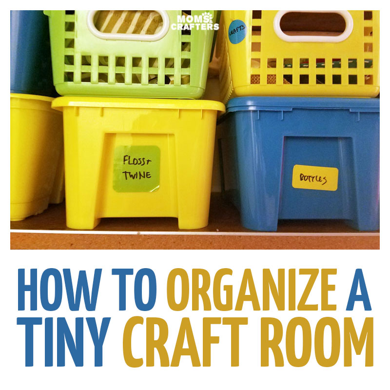 Small Craft Room Organization Ideas On A Budget   Check Out How I Turned A  Closet