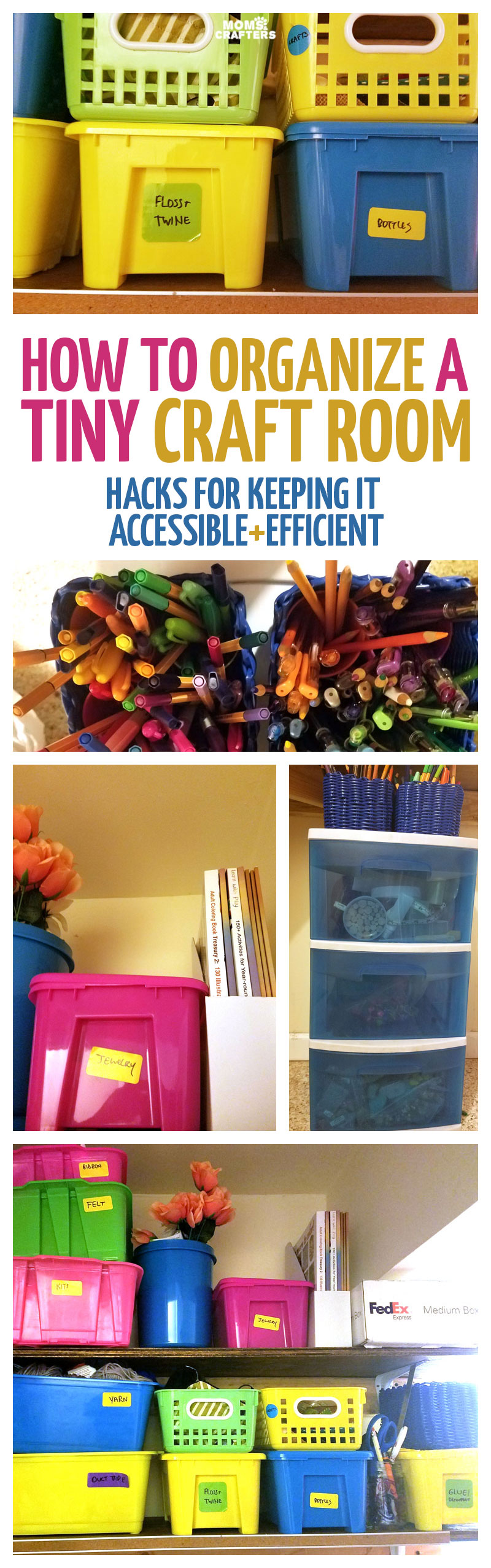 Craft Room Organization How To Organize A Tiny Craft Room Efficiently