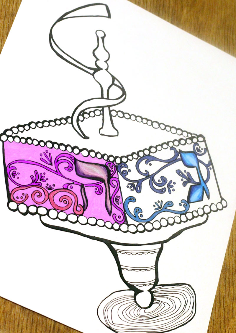 Hanukkah Coloring Pages for Adults - Moms and Crafters