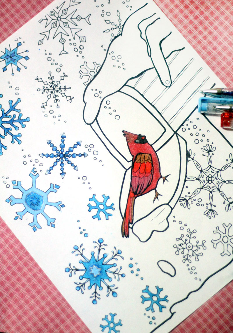 winter snowflake coloring page for grown ups a free printable