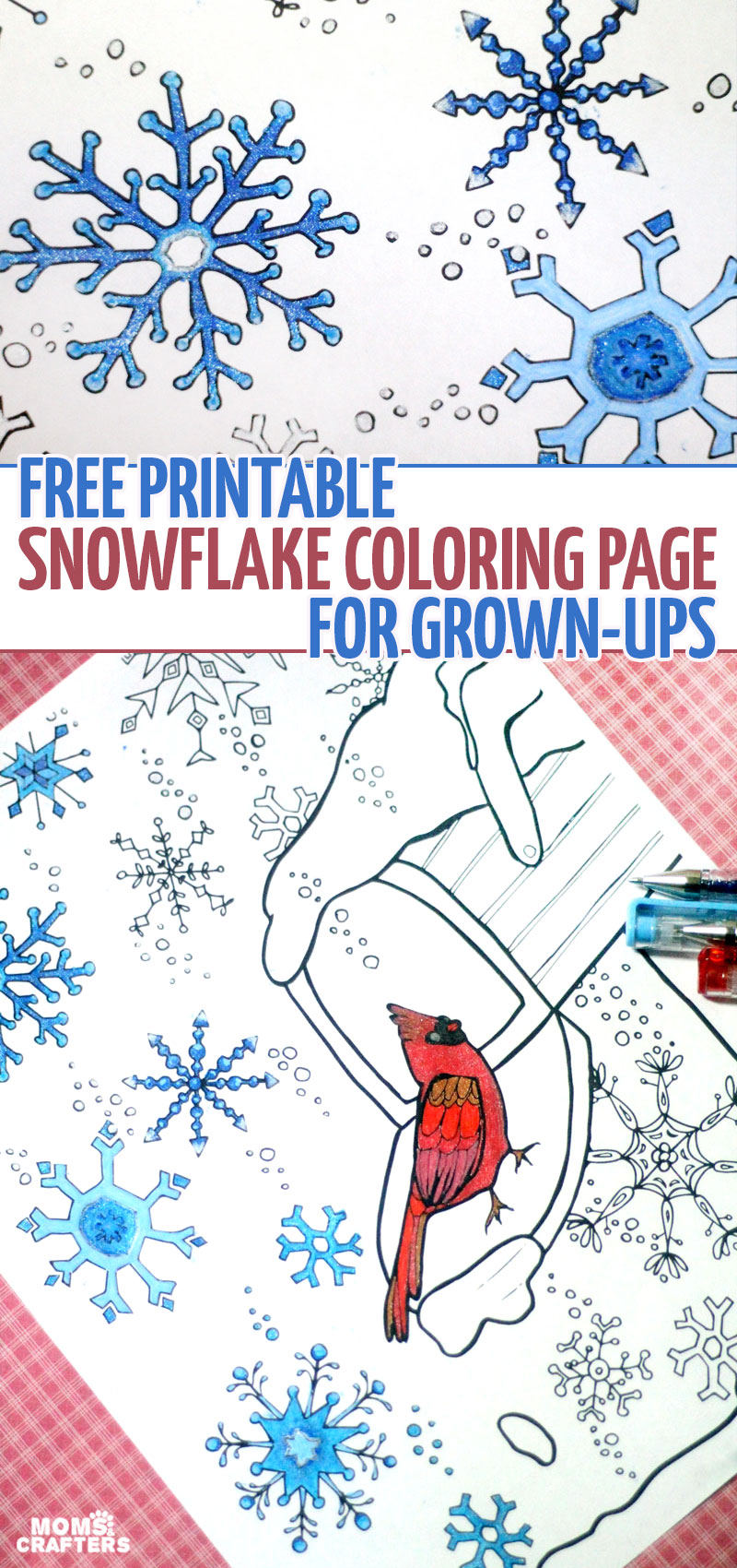 i had such fun coloring this snowflake winter coloring page for grown ups if